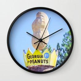 Worlds Largest Peanut Ashburn Georgia Roadside Attraction I-75 Wall Clock