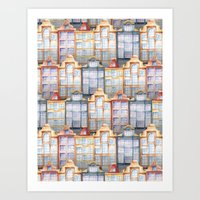 amsterdam Art Prints featuring  Amsterdam by Julia Badeeva