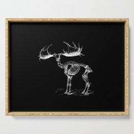 Skeleton of a Monster Deer Elk Illustration Serving Tray