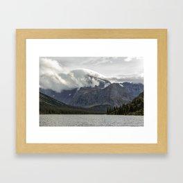 Clouds Over Mt Gould Framed Art Print
