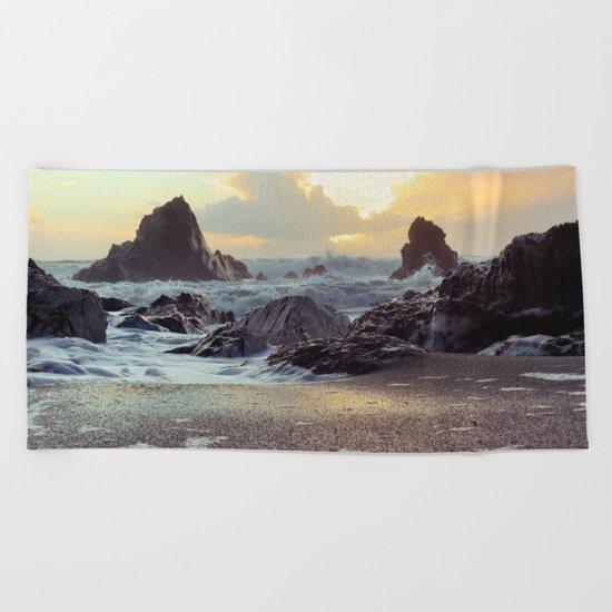 Crashing Waves II Beach Towel