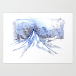 Lonely Blue Mountain Art Print