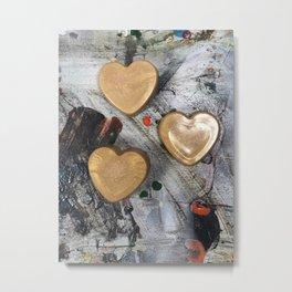 Abstract Hearts Metal Print