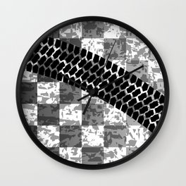 Flag Skid Mark Wall Clock