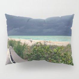 Stormy Sky, Aqua Sea Pillow Sham