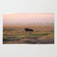 buffalo Area & Throw Rugs featuring Buffalo by zoologija