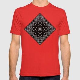 black and white bandana pattern T-shirt
