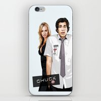 chuck iPhone & iPod Skins featuring Chuck Chuck by SyafSyaf