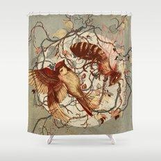 Honey & Sorrow (grey) Shower Curtain