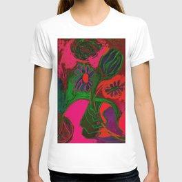 Blacklight Bouquet, Pink T-shirt
