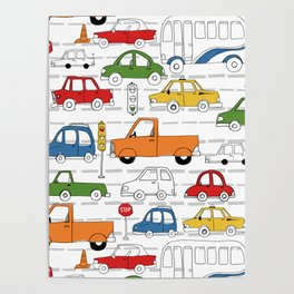 Busy Traffic Pattern Poster