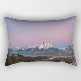 Pink Sunrise in Grand Teton Rectangular Pillow