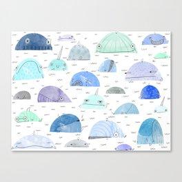 Whale party Canvas Print