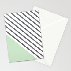Diagonal Block - Mint Stationery Cards