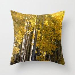 Golden Aspens Throw Pillow