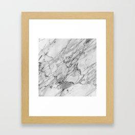 Carrara Marble Framed Art Print