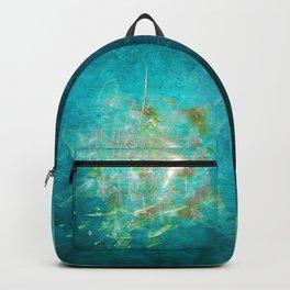 Fractal ghost ship on the azure ocean Backpack