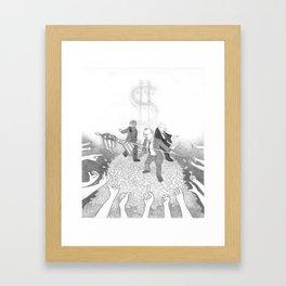 Kings Of The Hill Framed Art Print