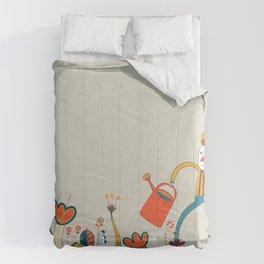 In Flowers Comforters
