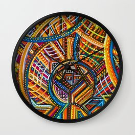 Another Light to Coney Island, Brooklyn NYC landscape by Joseph Stella Wall Clock