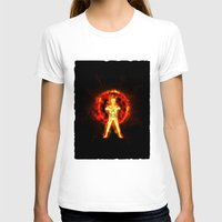 kakashi T-shirts featuring NARUTO - kyubi chakra by kattie flynn