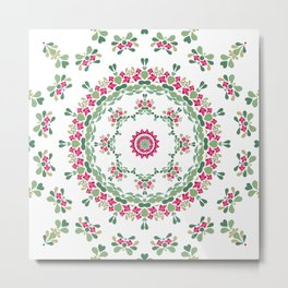Ethnic floral ornament 2 Metal Print