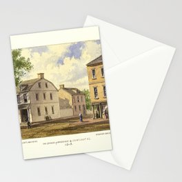 New York 1808, Broadway & Courtland St., Alderman Bogert's Bakery and Manasseh Salter's Store Stationery Cards