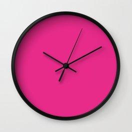 Bright Pink Wall Clock