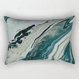 Tranquil Arctic Painting Marble Rectangular Pillow