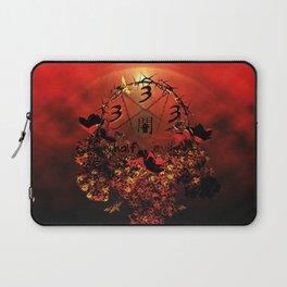 half evil pentagram Laptop Sleeve