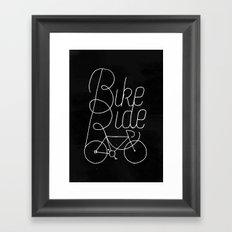 Bikeride Framed Art Print