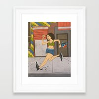 broad city Framed Art Prints featuring Broad City by Theodore Taylor III