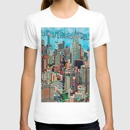 Stressless - New York City Skyline - Empire State Building Photograph on Canvas by Serge Mendjisky T-shirt