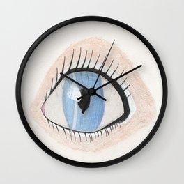 The Eye Sees Neptune Wall Clock
