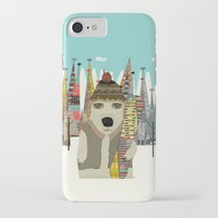 snowboard iPhone & iPod Cases featuring murphy by bri.buckley