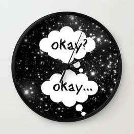Okay Okay The Fault in Our Stars Wall Clock