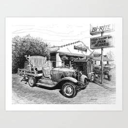 Puckett's Restaurant and Grocery Art Print
