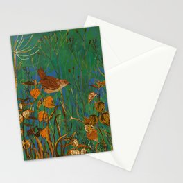 Winter Glimpses - Wren and Physalis Stationery Cards