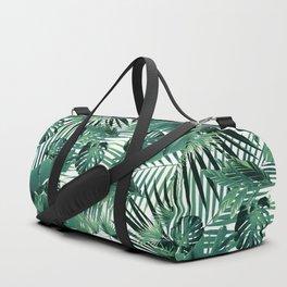 Tropical Jungle Leaves Siesta #5 #tropical #decor #art #society6 Duffle Bag