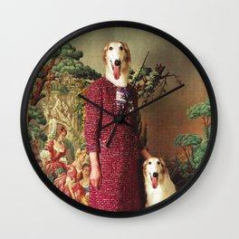 Portrait - Saluki Wall Clock