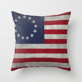 Thirteen point USA grungy flag Throw Pillow