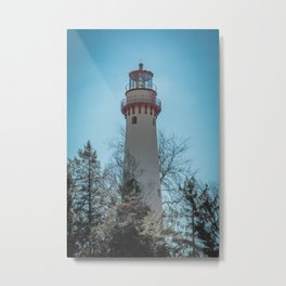 Gross Point Lighthouse Evanston Illinois Closeup Lake Michigan Metal Print