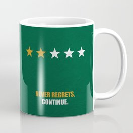 Lab No.4 -Never Regrets, Continue Motivational Quotes poster Coffee Mug