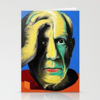 pablo picasso Stationery Cards featuring Pablo by Zmudart