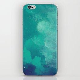 Watercolor night sky iPhone Skin