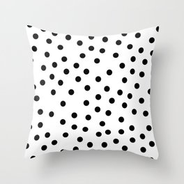 Simply Dots in Midnight Black Throw Pillow