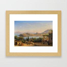 Port of Ischia, Italy by Eduard Agricola Framed Art Print