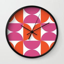 Yoyos red & pink Wall Clock