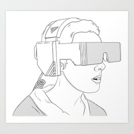 VR GIRL Art Print