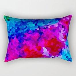 Rock Candy Blue Tie Dye. Rectangular Pillow